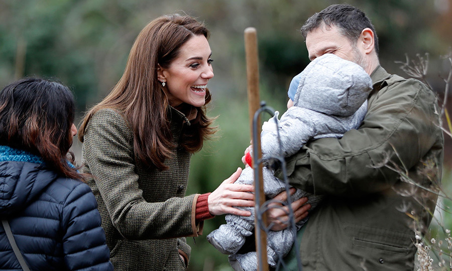 Kate couldn't help but stop to coo over three-month-old baby Ishaan, who was bundled up with mom Anita and dad Alex. The royal was surely nostalgic over eight-month-old Prince Louis' earlier days.
