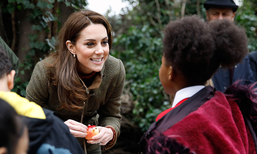 "The royal mom had lots of questions for her little fans. ""Do you all like learning outside? Do you prefer a classroom in the woodlands or a classroom inside? You can do cool stuff like this. You can learn all the time. And what's your favourite thing to do outside in the garden?"" A little boy said he loves finding dirty stuff, to which Kate replied, ""What sort of dirty stuff do you find? Do you find worms? And insects? Do you ever find spiders? There's so much to discover isn't there? It's really fun. If you haven't tried it you don't know how cool it is."" 