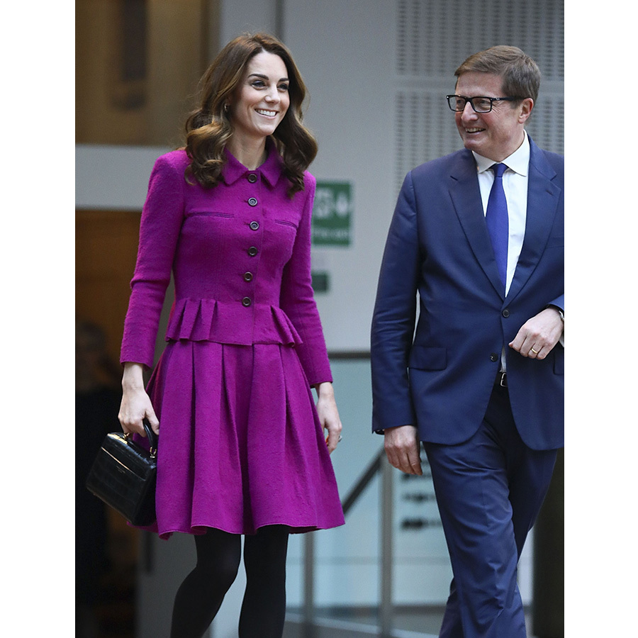 Kate was all smiles as she arrived at the Royal Opera House. 