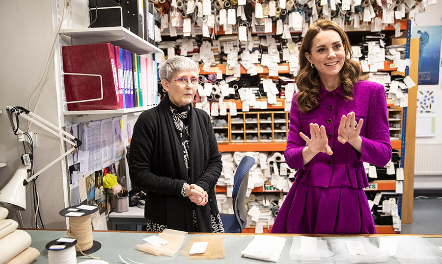 The inquisitive duchess had quite an animated conversation with Morag Beaton, the stock room supervisor at the Royal Opera House.