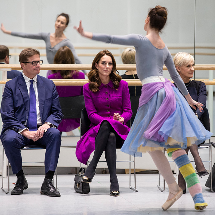 A big fan of the arts – and the mother of two little dancers, Prince George and Princess Charlotte! – the duchess watched on as one of the dancers performed.