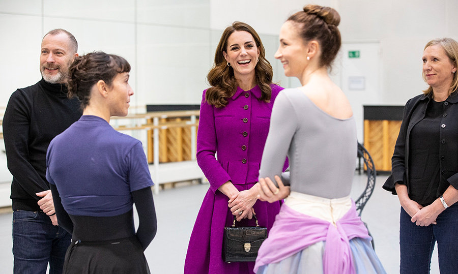 The Duchess of Cambridge chatted with Royal Ballet principle dancers Lauren Cuthbertson and Laura Morera.