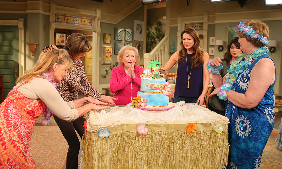 The silver-screen star got to blow out her 93rd birthday candles on the set of her TV show <em>Hot in Cleveland</em>, proving that nothing can slow down this incredible actress.