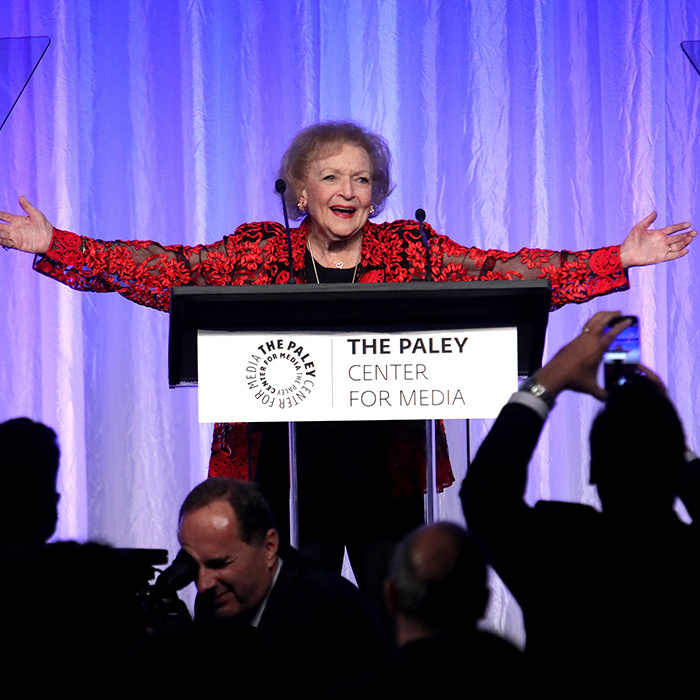 "At age 95, the fashion maven and industry veteran was a woman of honour at the ""Paley Honors in Hollywood: A Gala Celebrating Women in Television"" event in Beverly Hills. Her star quality was very clearly on display as she addressed the audience!