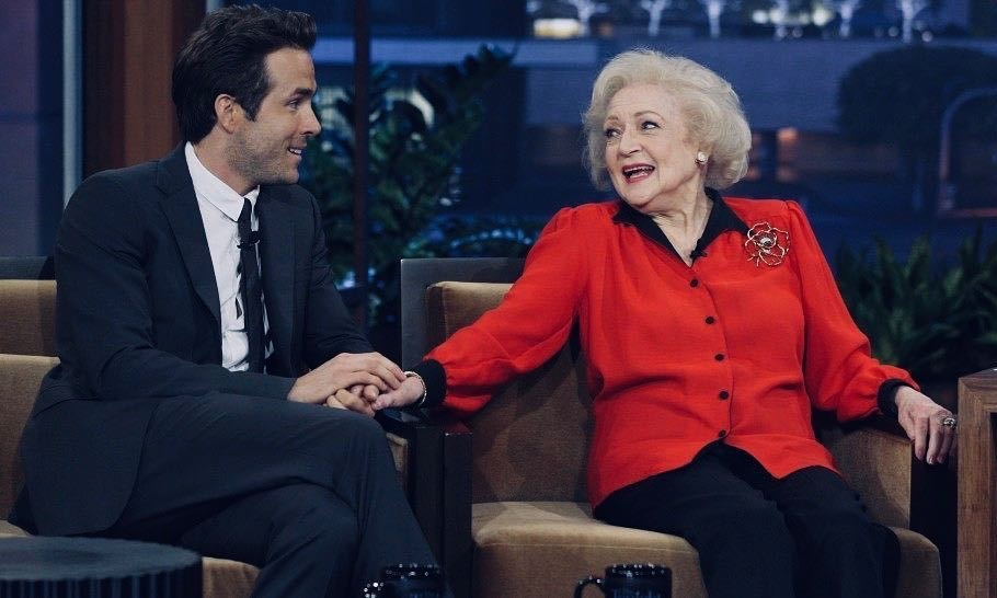 "Canadian heartthrob Ryan Reynolds took to Instagram to wish the veteran comedienne a happy birthday, referring to her as an ex. ""I don't usually wish ex-girlfriends Happy Birthday. Betty's special. Happy Birthday to the one and only, @bettymwhite "" He played her grandson in 2009's <em>The Proposal</em> and .