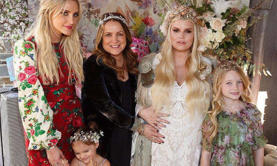 2733ad4c540c Jessica Simpson s baby shower hinted at her baby s name