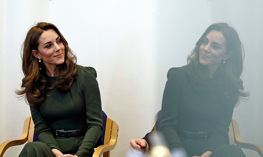 While inside Family Action's headquarters in the south London area, Kate listened intently to the charity's CEO David Holmes, learning about what can be done to better support the country's at-risk families.
