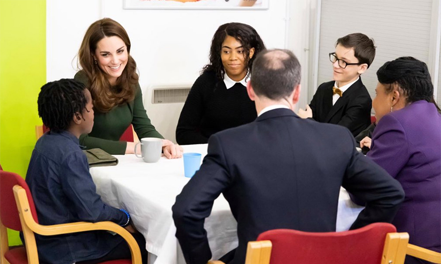 It's well known that Kate has a fondness for children, so it should come as no surprise that she found herself at a table chatting with some! The duchess is currently driving a research project to establish what more can be done across the United Kingdom to give children their best possible start in life.