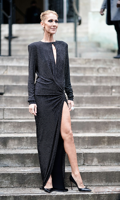 "The Canadian chanteuse showed off some major leg in a black dress while outside the Alexandre Vauthier show during on Jan. 22. During the show, Celine was spotted <a href=""https://ca.hellomagazine.com/celebrities/02019012249496/celine-dion-pepe-munoz-paris-couture-fashion-week"">hamming it up in front row</a> with her dancer friend, Pepe Munoz.