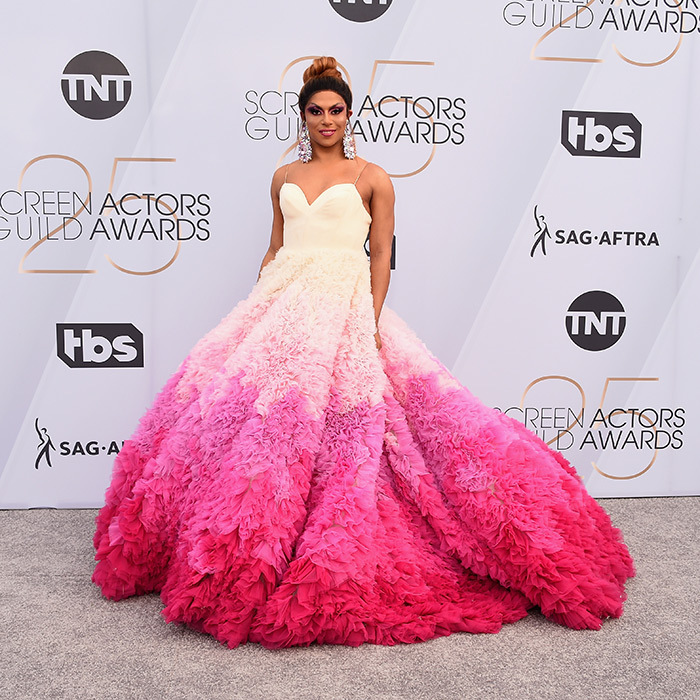 Shangela in Christian Siriano