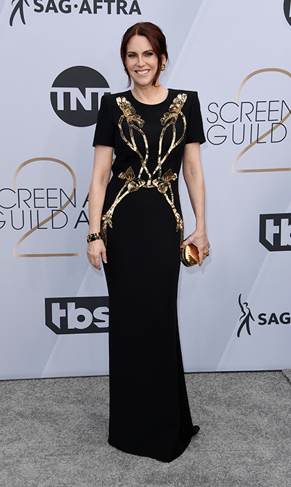 Megan Mullally in Alexander McQueen