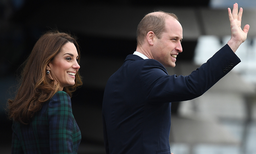 The two looked fresh and happy as ever to be in Dundee, smiling and waving at their adoring fans who were eagerly awaiting their arrival this morning.