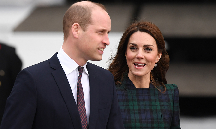 Prince William and Kate left their three little ones at home for the day trip to Scotland.