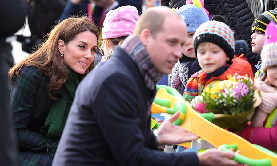 The duo graciously chatted with some adorable youngsters eagerly awaiting their favourite royals!