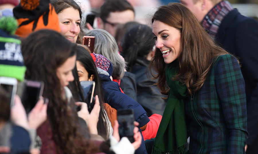 Duchess Kate spoke animatedly with some of her biggest fans during a walkabout in Dundee.