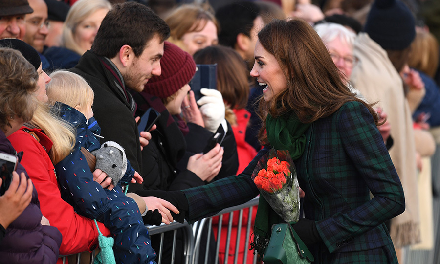 The walkabout near the V&A Museum was packed with royal fans!