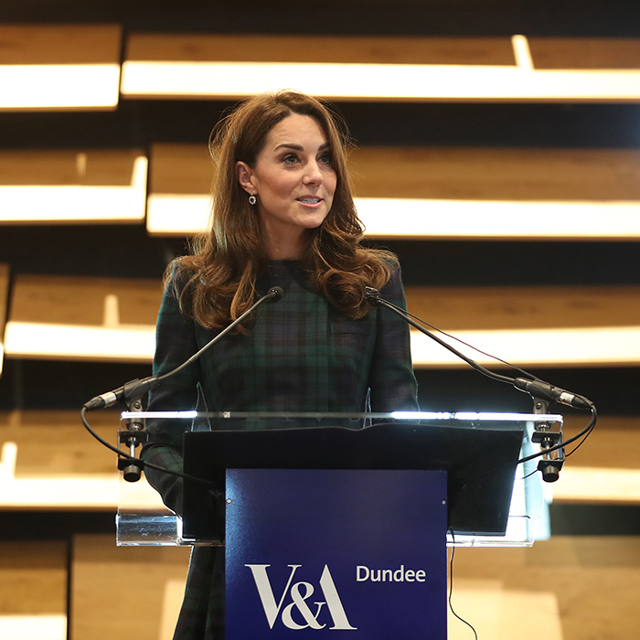 While helping open the museum, Kate took to the podium to address the crowd.