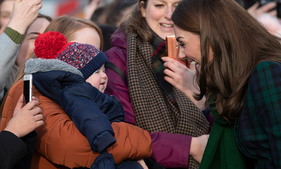 So sweet! Duchess Kate made an adorable baby laugh with her maternal charm.