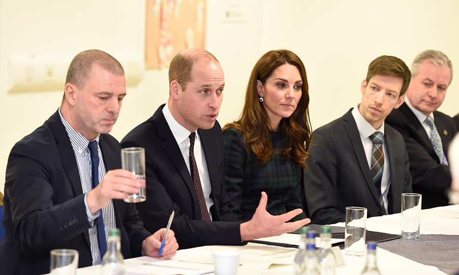Prince William and Kate – who are known as the Duke and Duchess of Strathearn in Scotland – attended a meeting of the Michelin Action Group at a community centre in Dundee after meeting with employees and their families from the local tyre factory, which is set to close on Jan. 29.