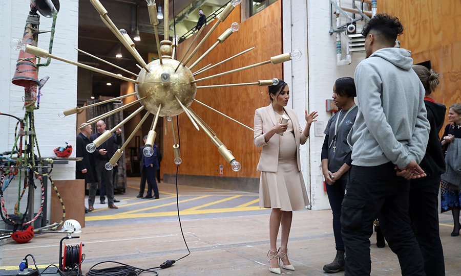 Meghan checked out some interesting lighting designs during her visit.