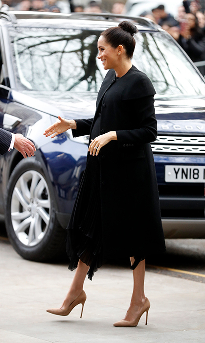 The academic-minded royal was the picture of elegance in an all-black ensemble for a meeting with the Association of Commonwealth Universities on Jan. 31, 2019. 