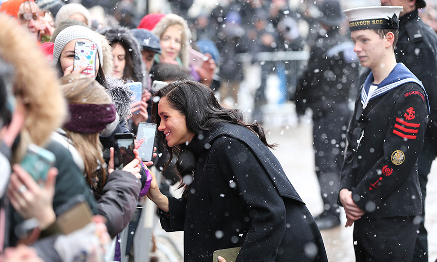 The Sussexes were generous with their time, despite the cold.