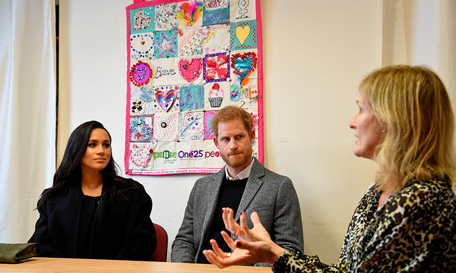 The Sussexes met with CEO Anna Smith during their visit, where they spoke about how One25 is positively impacting the city.