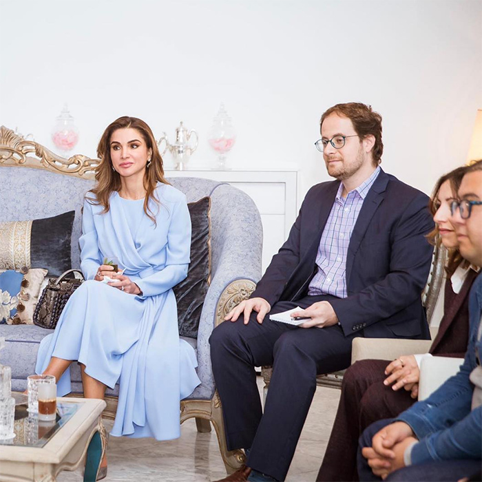 """From my meeting with a group of creative entrepreneurs and startups in Tunisia yesterday; so much in common with their Jordanian peers,"" Queen Rania of Jordan wrote on Instagram. ""As small countries with limited natural resources, entrepreneurship can be a strong engine of growth and job creation in both Jordan and Tunisia.""