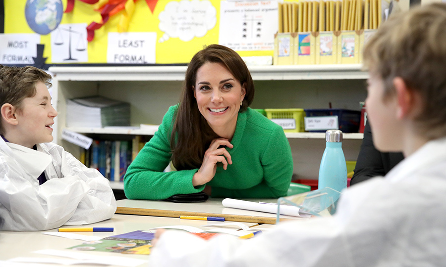 Prince William's wife spent time chatting with students, to discover how the school can best provide support to improve the emotional wellbeing of pupils, families, teachers and school staff.