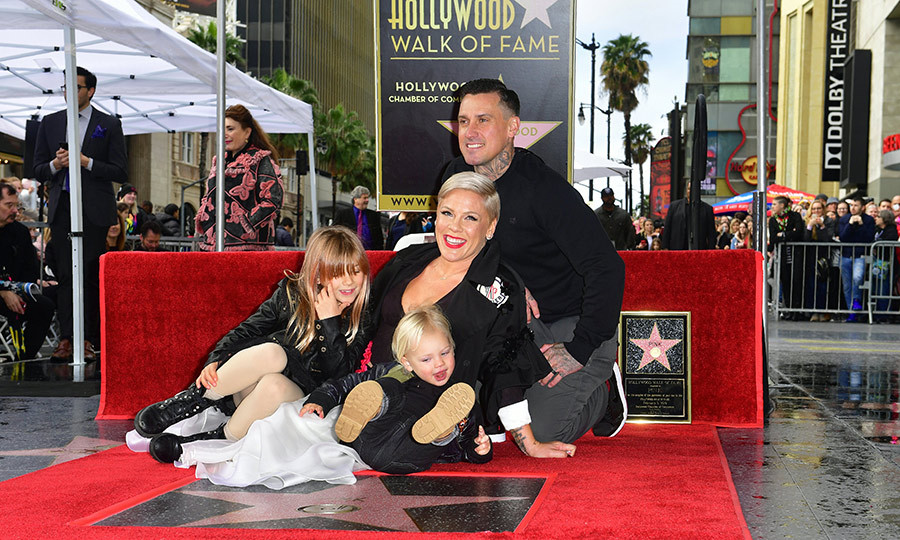 "It was a perfect ""Family Portrait"" when Pink received her star on the Hollywood Walk of Fame on Feb. 5! The singer – who's up for best pop vocal album at the 2019 GRAMMYs – brought the whole family for the fun day, including husband Carey Hart and kids, Willow, 7, and two-year-old Jameson.