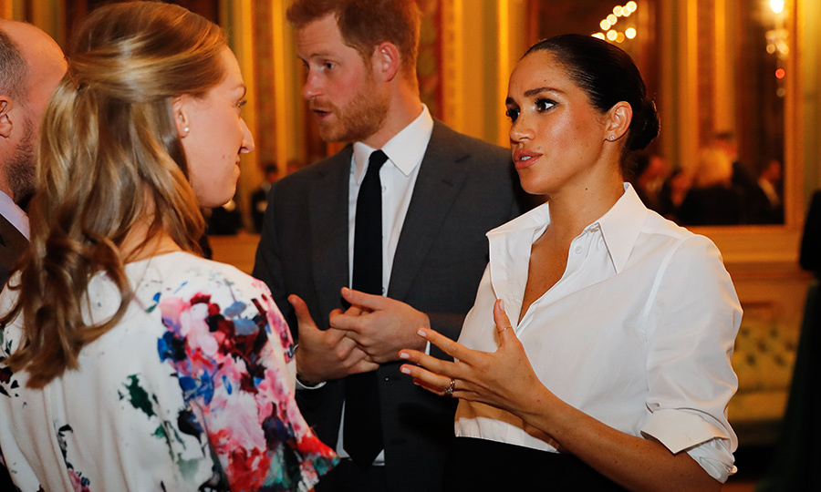 The duchess chatted enthusiastically with one Endeavour attendee. She showed off her dainty silver thumb ring – an accessory she's worn a few times before.
