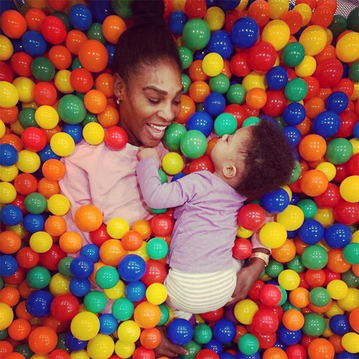 "Serena Williams and her bundle of joy rang in the beginning of February with some ball pit fun! ""Nothing brings me more joy than my sweet @olympiaohanian,"" she wrote on Instagram. The photo, of course, was taken by her husband, Alexis Ohanian.