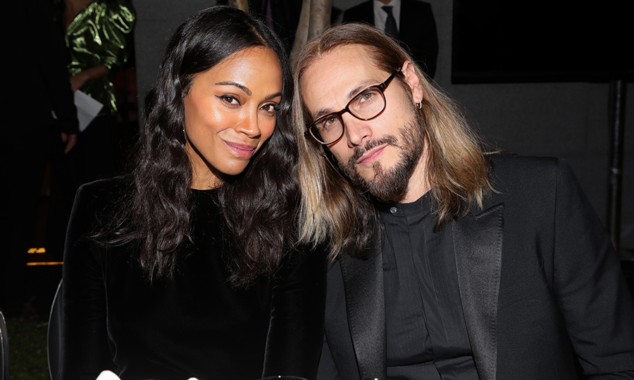 Zoe Saldana and her hubby, Marco Perego, made the sweetest couple at Mexico City's amfAR gala dinner on Feb. 5.