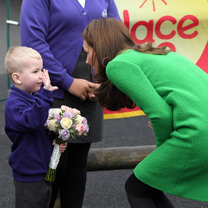 While Duchess Kate was visiting Lavender Primary School, a little boy made sure to let her know how old he is!