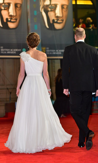 The 37-year-old's gown looks just as beautiful from the back!