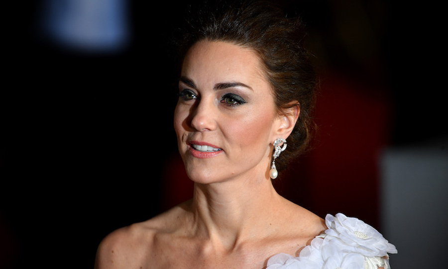 The Duchess of Cambridge was a vision in Princess Diana's diamond-and-pearl earrings.