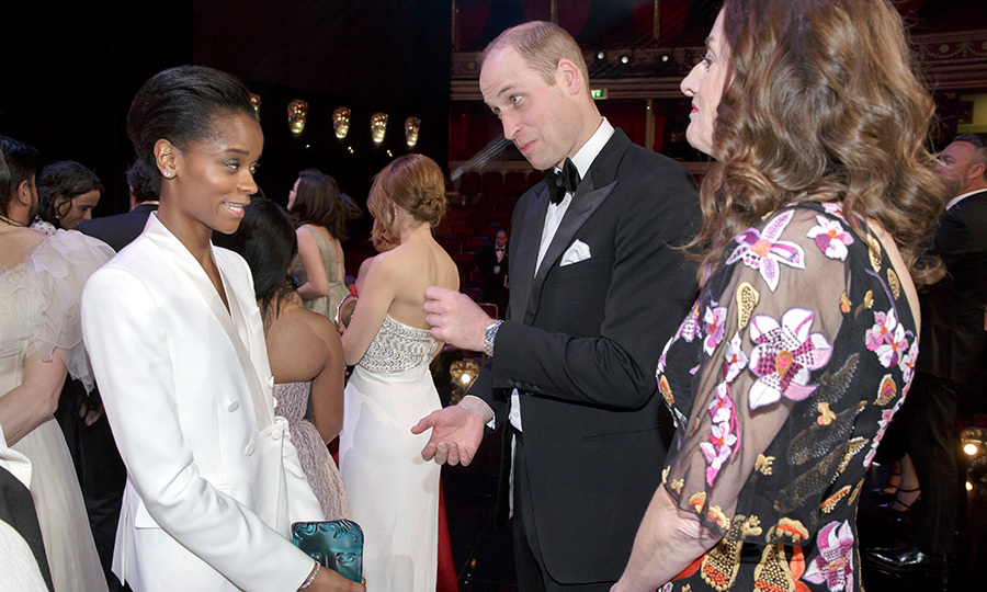 The Duke of Cambridge also stopped to chat with <em>Black Panther</em> star Letitia Wright! They appeared to be having a rather animated conversation. The 25-year-old actress took home the Rising Star Award that evening.  