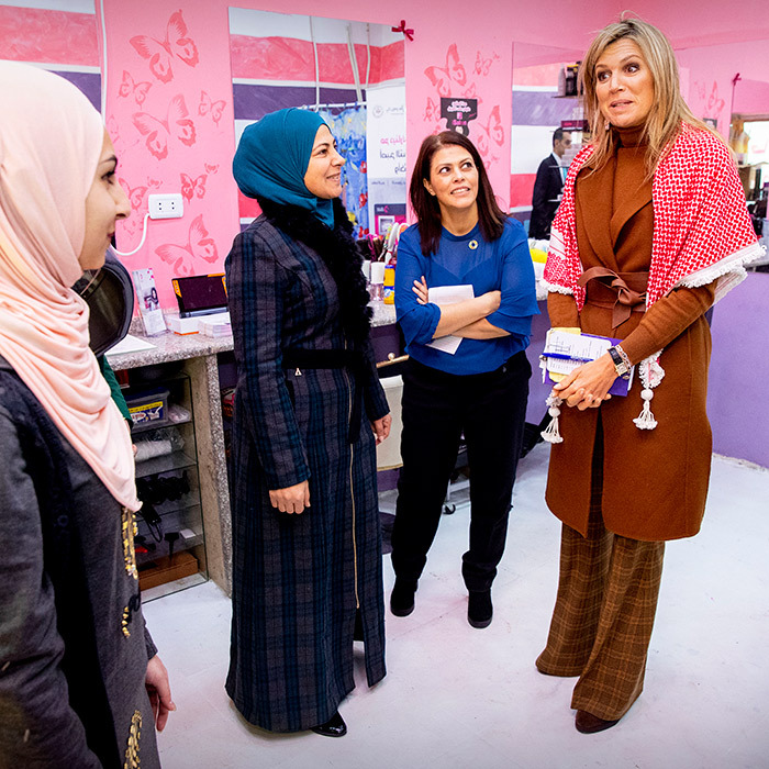 The Argentina native visited two female entrepreneurs in Al Hana Boutique and Ladies Hairdresser who provide mobile financial services from Dinerak in Zarqa.