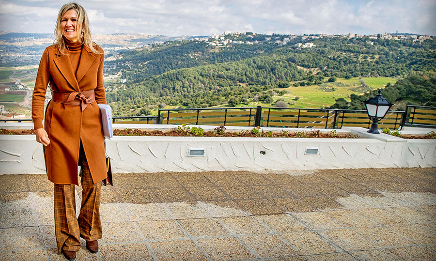 What a stunning view! On day one of her visit to Jordan, the Netherlands based royal enjoyed a short sight-seeing break in Salt.