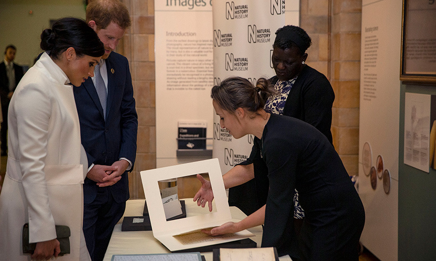 The Duke and Duchess of Sussex took a peek at some historical documents.