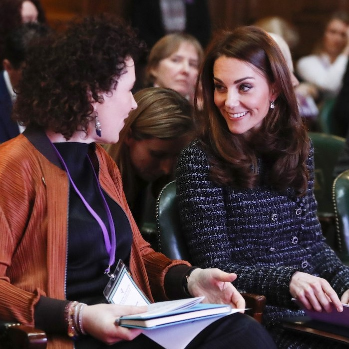 Showing off her natural charm, the duchess enjoyed chatting with some mental health representatives while at the event.