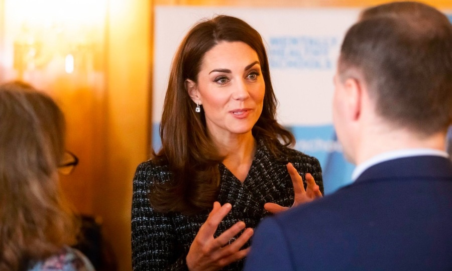 The duchess clearly had a lot to say, likely showing her gratitude for what these head teachers are doing for their students.