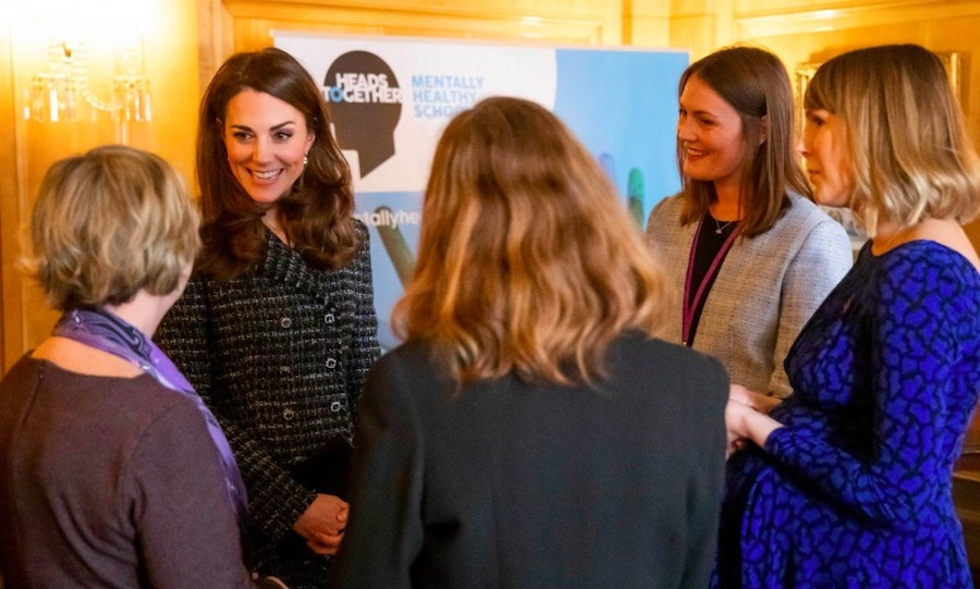 Schools throughout the United Kingdom have started to use http://MentallyHealthySchools.org.uk to help them talk about mental health in the classroom. The duchess met with Head Teachers from some of these schools.