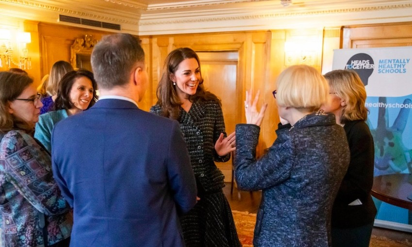 Kate spent some time chatting with the teachers, likely learning a lot about what they're doing to create safer spaces in their schools.