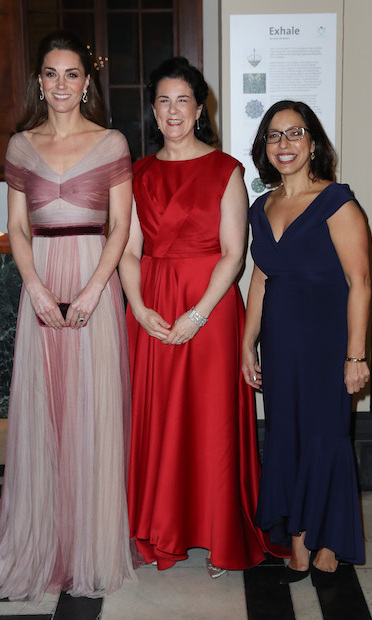 The mother of three posed alongside Amanda Pullinger, Chief Executive of 100 Women in Finance, and Lauren Malafronte, Chair of 100 Women in Finance Association Board.