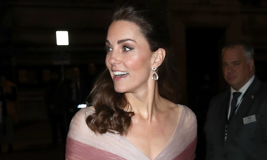 "Following <a href=""https://ca.hellomagazine.com/royalty/02019021349888/kate-middleton-mental-health-conference-photos/""><strong>a mental health conference</strong></a> on the morning of Feb. 13, the <a href=""https://ca.hellomagazine.com/tags/0/kate-middleton/""><strong>Duchess of Cambridge</strong></a> stepped out for a second time to attend a glitzy gala with 100 Women in Finance's Philanthropic Initiatives. As patron of the organization, the mother of three was on hand to help support the 'Mentally Healthy Schools' program, a cause she launched in 2018, at the Victoria and Albert Museum.