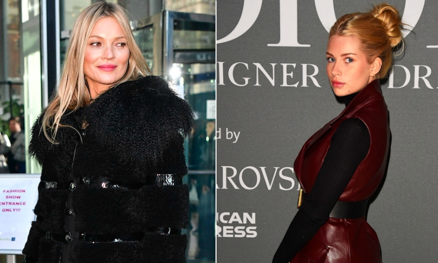 <h2>Kate and Lottie Moss</h2>