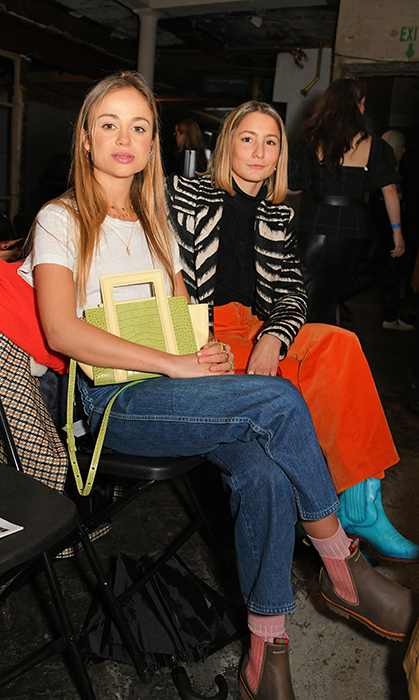 Lady Amelia Windsor and her friend attended the REJINA PYO show on Feb. 18 as part of London Fashion Week.