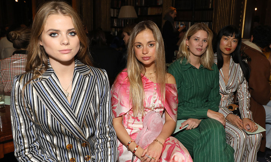 "Bea Fresson, Lady Amelia Windsor, Eleanor Balfour and Mimi Xu attended the Peter Pilotto Autumn Winter 2019 Show on Feb. 17. Many will remember that Peter is the one <a href=""https://ca.hellomagazine.com/brides/02018101047754/princess-eugenie-peter-pilotto-wedding-gown""><strong>who designed Princess Eugenie's wedding gown</a></strong>!