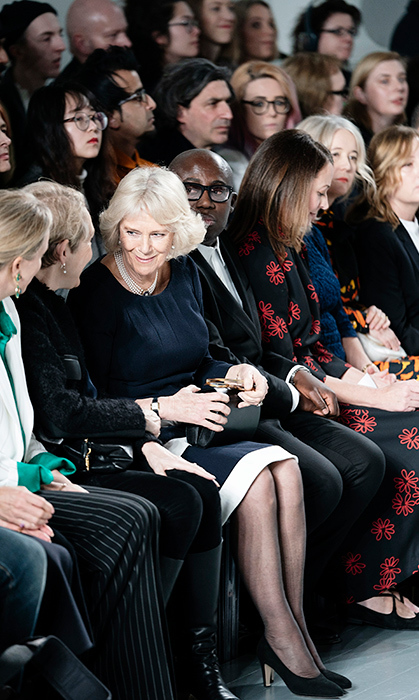 "The <a href=""https://ca.hellomagazine.com/tags/0/duchess-of-cornwall""><strong>Duchess of Cornwall</strong></a> was queen of the catwalk! Camilla looked happy as ever to be attending the Bethany Williams show during London Fashion Week Feb. 19.